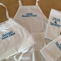 Personalized Aprons and Matching Hand Towels