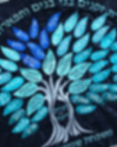 Seven Children Family Tree in Turquoise.