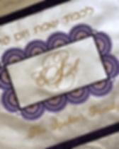 Sunburst Monogram Challah Cover