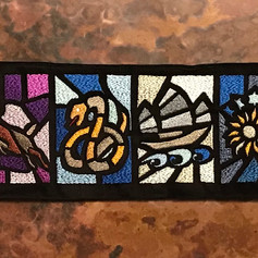 Twelve Tribes of Israel Stained Glass