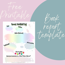 Free Printable - Book Report Template