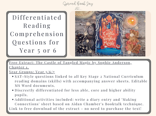 Year 5/6 Reading Comprehension Questions: The Castle of Tangled Magic