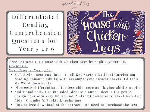 Year 5/6 Reading Comprehension Questions: The House with Chicken Legs