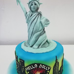 3D Statue of Liberty cake