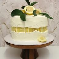 Zesty lemon 'fault line' cake