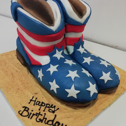 3D American boots cake