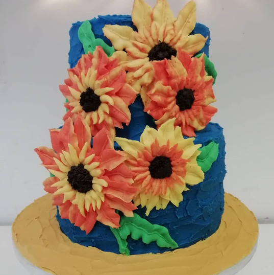 Sunflowers buttercream cake