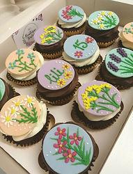Wild flower cupcakes (gluten free)