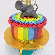 Rainbow elephant cake