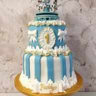 2 tier carousel cake
