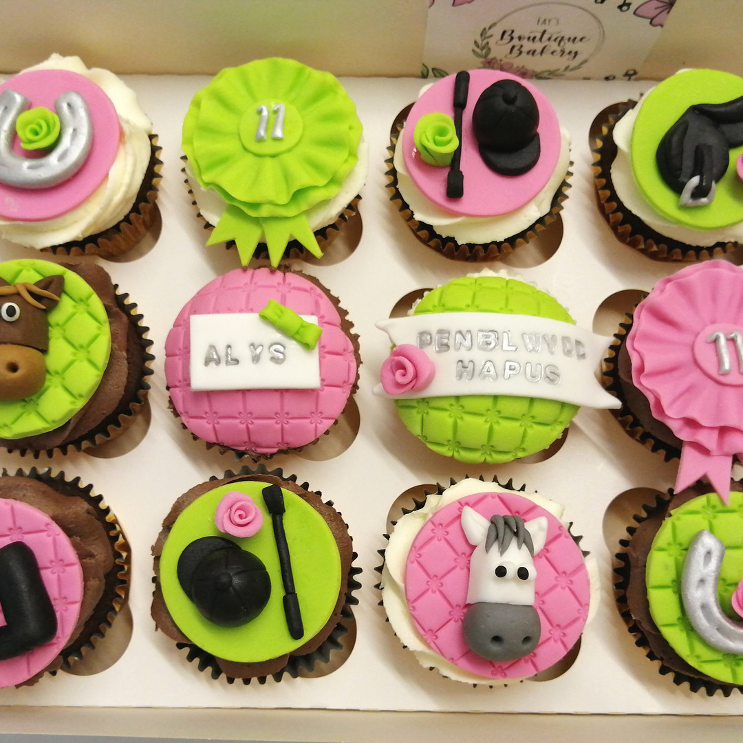 Horse themed cupcakes