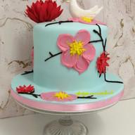 Bird & blosom cake