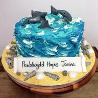 Vegan dolphin cake