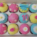 10th birthday cupcakes