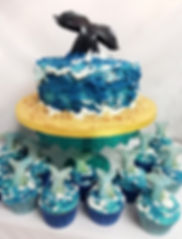 Sealife cake & cupcakes