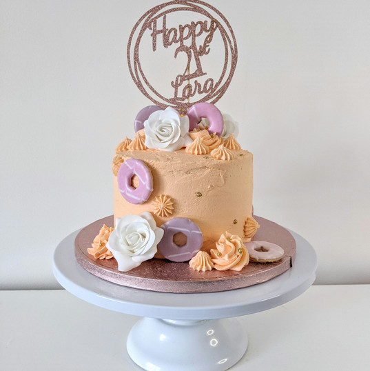 Vegan chocolate & caramel buttercream 21st birthday cake