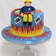 Fireman Sam vegan cake