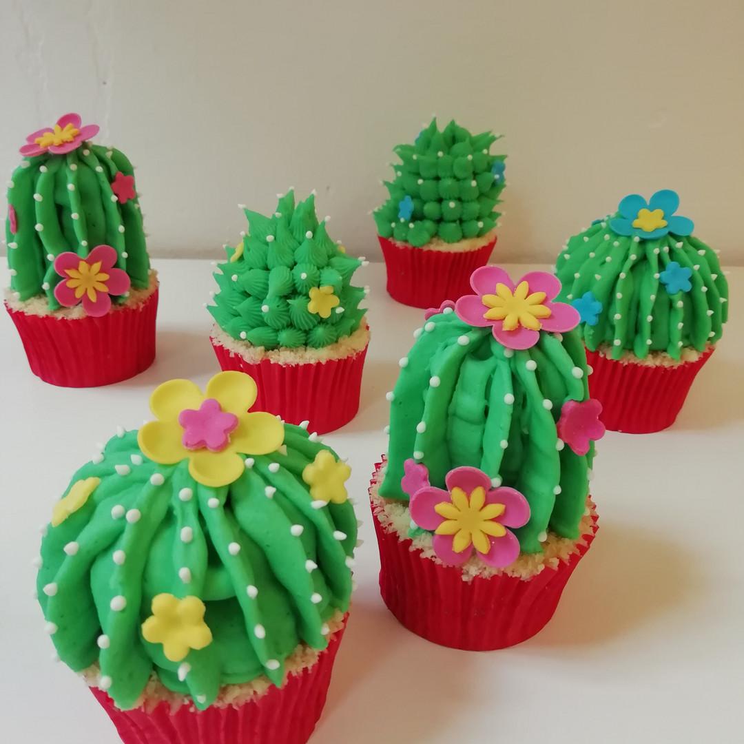 Luxury cactus cupcakes