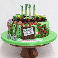 Allotment themed cake