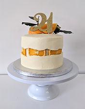 orange 'fault line' cake