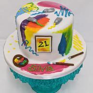Artist themed vegan cake