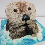 3D otter cake