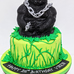 Gorilla themed cake