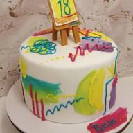 Student artist cake