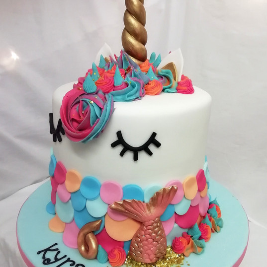 Unicorn/mermaid cake