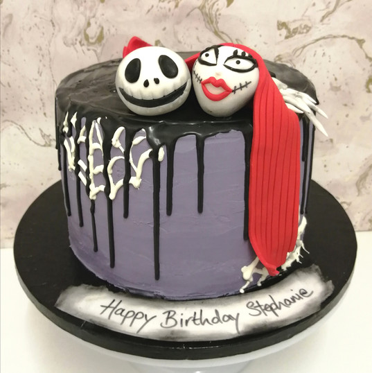 Chocolate ganache Nightmare Before Christmas cake
