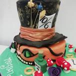 3D Alice in wonderland cake