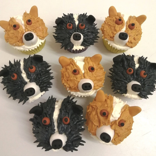 Beagle & Collie pupcakes