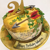 Lord of the rings themed cake