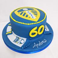 Leeds United themed cake