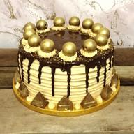 Luxury chocolate & caramel gold drip cake