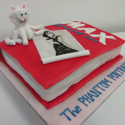 Book launch cake