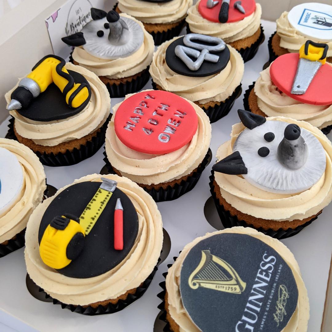 Handyman cupcakes