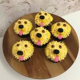 Golden retriever pupcakes