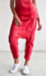Drop Crotch Linen Knit Harem Pants