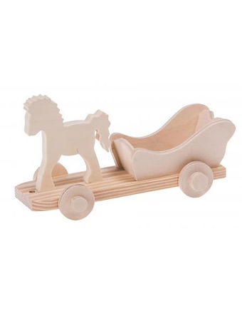 Wooden horse with carriage