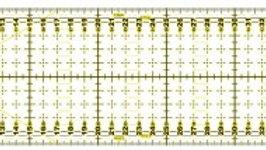 Regla de patchwork 10cm x 45 cm