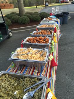 Green Beans, Fries, Hushpuppies, etc