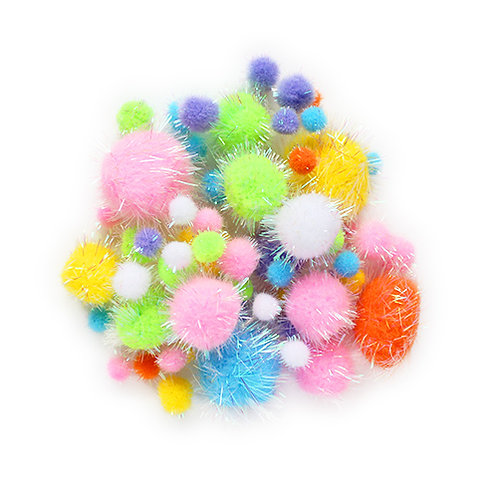 angels craft tinsel pom poms 55pcs