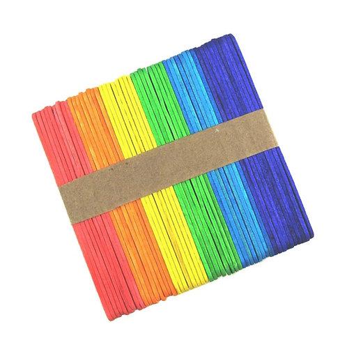craftland multi coloured popsicle sticks