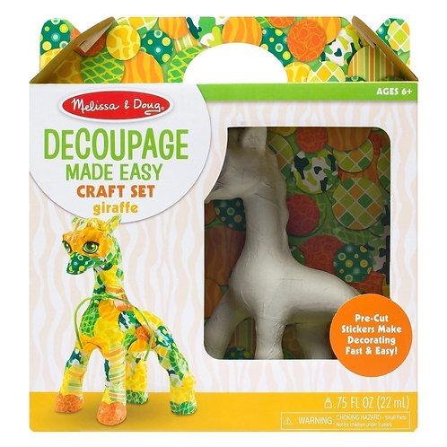 melissa and doug decoupage made easy craft set giraffe