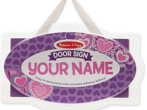 melissa and doug door signs