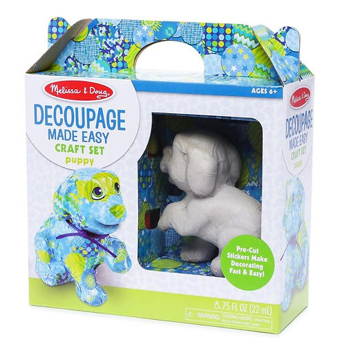 melissa and doug decoupage made easy craft set puppy