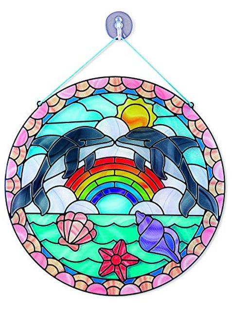 melissa and doug stain glass made easy dolphins