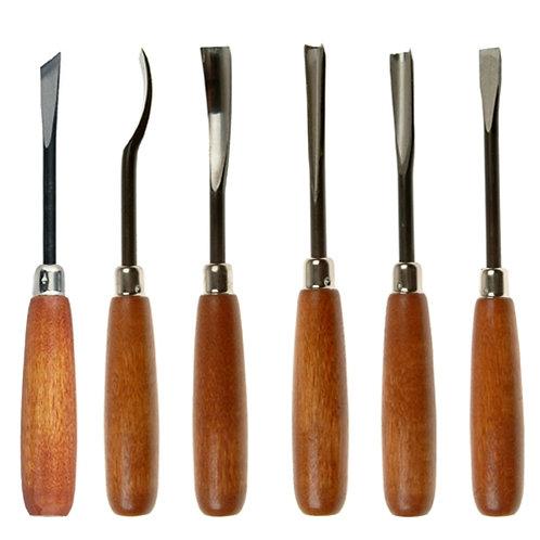 nicole  quality value wood carving set  6pcs