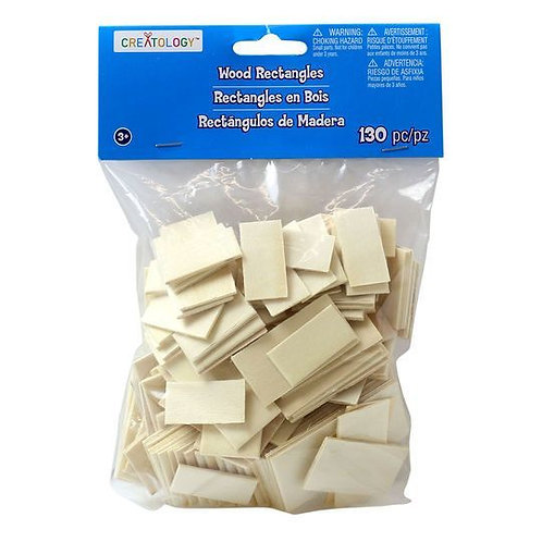 creatology wood rectangles 130pc